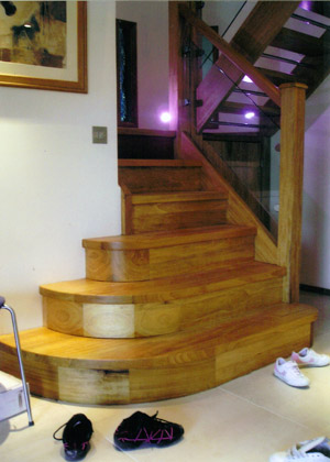Cornwall Joiners Bespoke Staircase